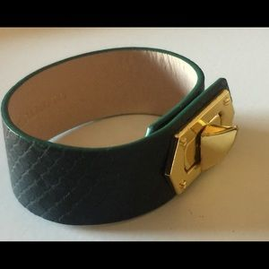 VINCE CAMUTO SNAKE EMBOSSED LEATHER CUFF BRACELET